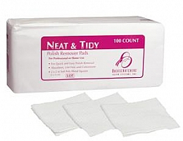 Backscratchers Neat and Tidy RETAIL 100 Polish Remover Pads