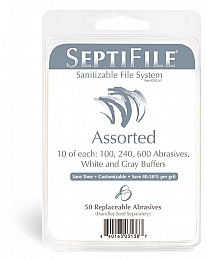 Backscratchers Septifile Replacement Abrasives 50ct Assorted Sizes